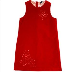 GAP DRESS | red velvet dress